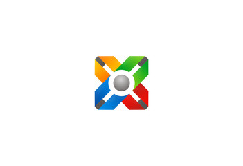 cross-ribbon-and-circle-vector-logo