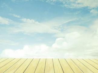 vintage,sky and Wood Floor