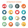 strategy long shadow icons