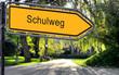 canvas print picture - Strassenschild 25 - Schulweg