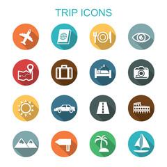 trip long shadow icons