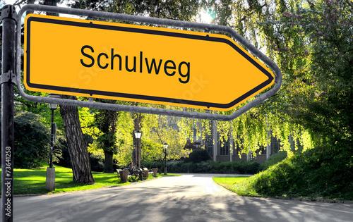 canvas print picture Strassenschild 25 - Schulweg