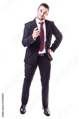 Plakat businessman pointing at you