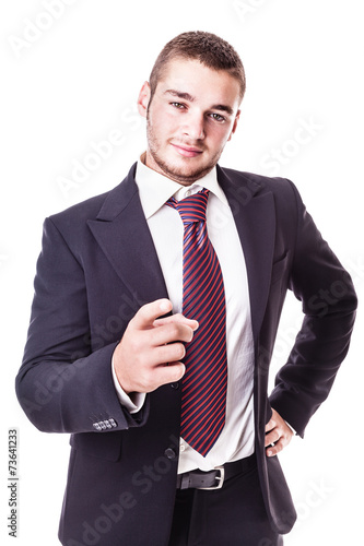 Plakat businessman pointing at camera