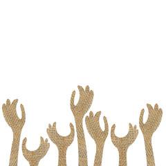 up hands