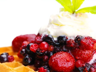 fruit wafel