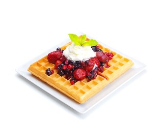 fruit wafel