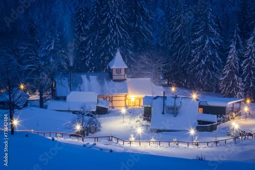 Winter in mountain