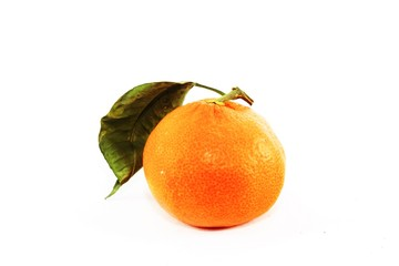 Orange fruit isolated on white background + Clipping Path