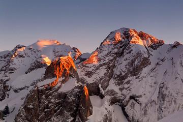 Marmolada Sonnenuntergang