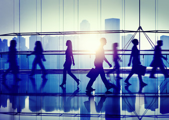 Back Lit Shopaholic People Walking Cityscape Concept