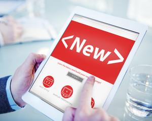 Digital Online New Office Working Concept
