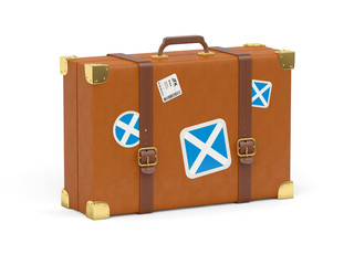Suitcase with flag of scotland