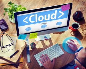 Big Data Online Network Office Sharing Concept