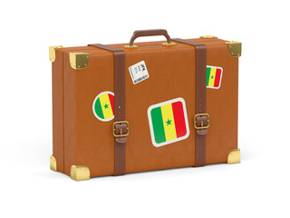 Suitcase with flag of senegal