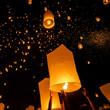 Floating lanterns during Yi Peng Festival in Chiang Mai, Thailan - 73644867