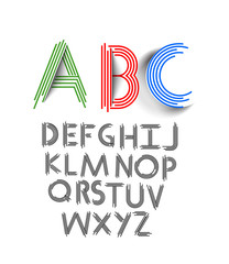 Vector Line Alphabet Set