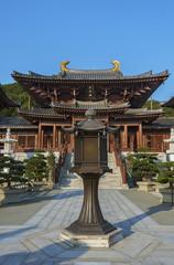 Chinese Temple - Chi Lin Nunnery in Hong Kong.