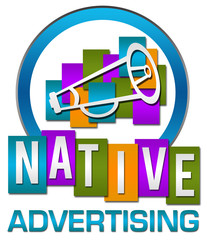 Native Advertising Colorful Circle Stripes