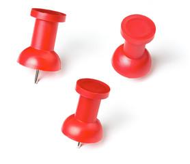 push pin or thumb tack set isolated