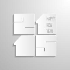 illustration inscription Happy New Year 2015 Vector