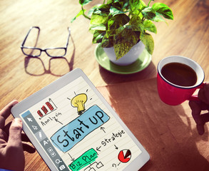 Digital Device Start Up Analysis Biz Plan Strategy Concept