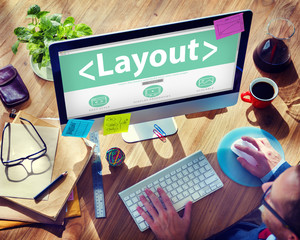 Business Marketing Creativity Layout Office Working Concept
