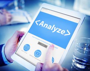 Digital Online Analyze Plan Research Working Concept