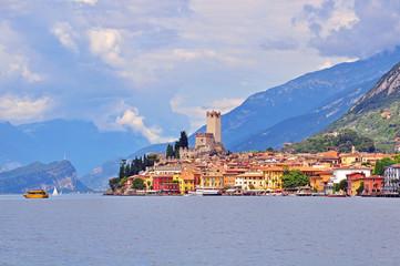 Malcesine on Garda lake, Italy