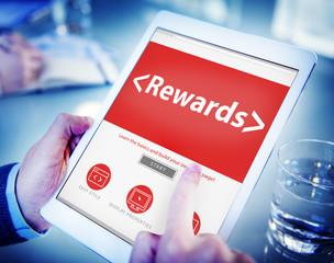 Digital Online Rewards Profit Office Working Concept