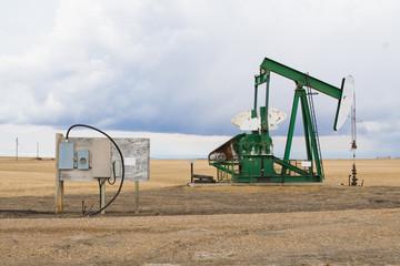 A pumpjack in Alberta, Canada