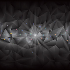 Abstract black geometric gems background.