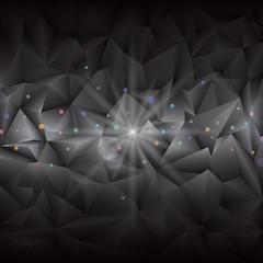 Abstract black geometric gems background.