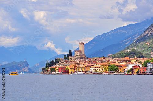 Malcesine on Garda lake, Italy - 73647243