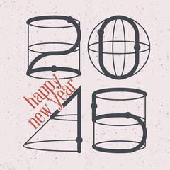 Shapes 2015 greeting card