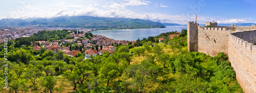 Old ruins of castle in Ohrid, Macedonia