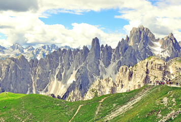 Mountains in Dolomites