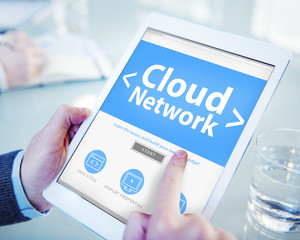 Cloud Digital Network Online Office Working Concept