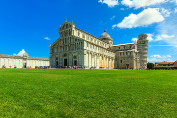 Cathedral and leaning tower of Pisa,Italy,Europe