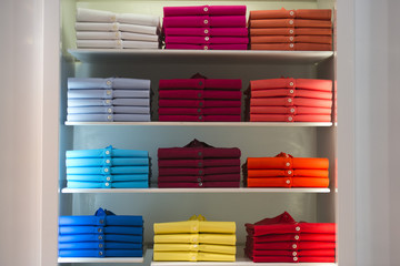 short sleeves polo shirt on display stand