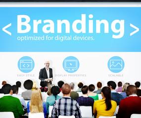 Branding Marketing Web Page Seminar Presentation Concept