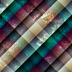 Diagonal abstract geometric pattern with grunge effect.