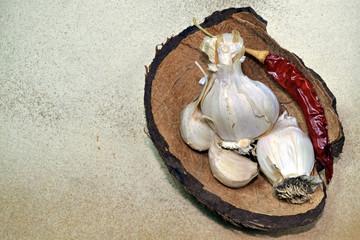 Garlic and chili pepper