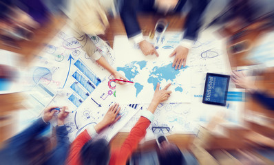 Diverse People Working and Global Business Concept