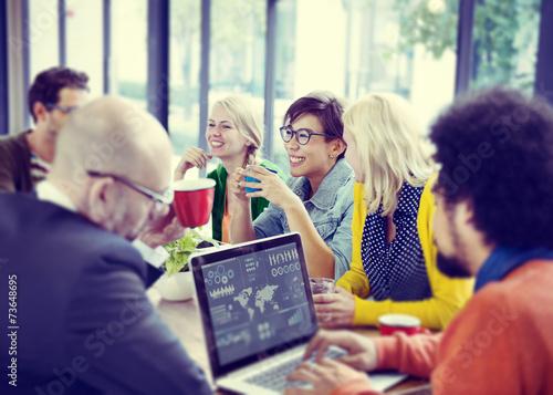 Business People Meeting Seminar Sharing Talking Thinking Concept - 73648695