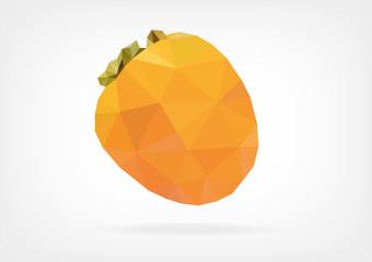 Low Poly Kaki fruit