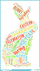 Bunny in Eastern Holiday Celebration Word Cloud