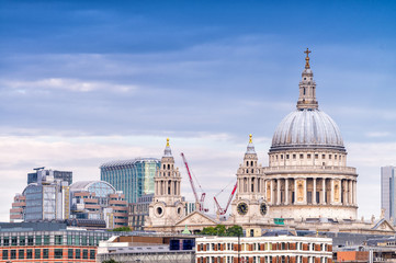 Beautiful view of St Paul Cathedral - London