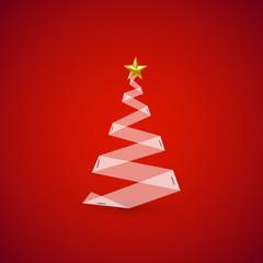 Vector christmas tree, easy all editable
