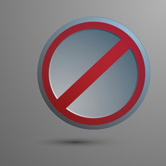 vector illustration of a traffic sign No Entry